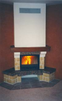Fireplaces with open and closed firebox